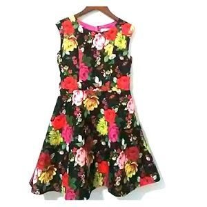 Ted Baker Girls floral dress fit and flare